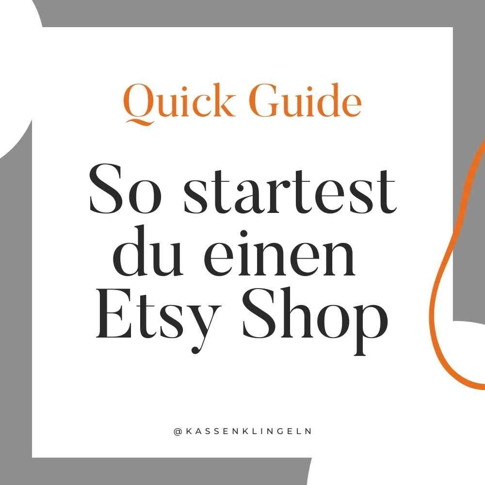 Schnellstart für deinen Etsy Shop