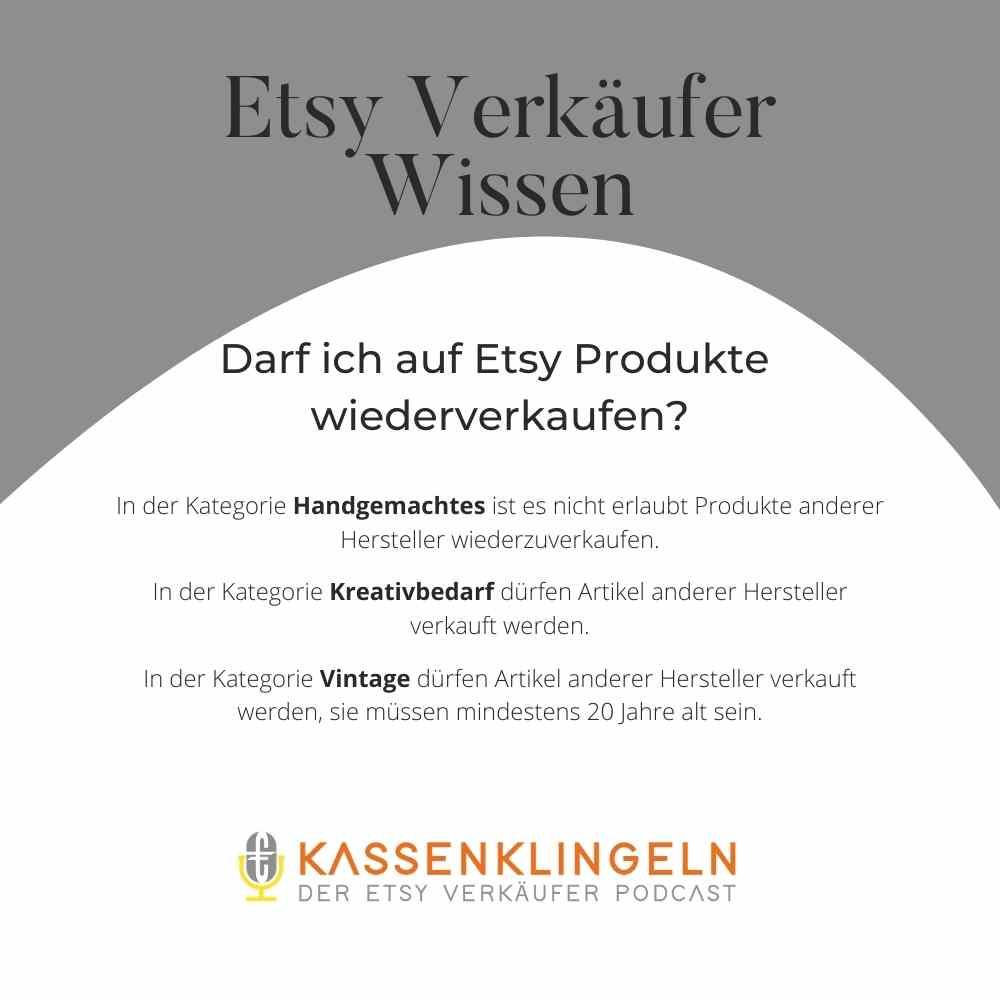 Etsy Verkäufer Wissen