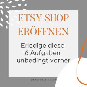 Etsy Shop eröffnen