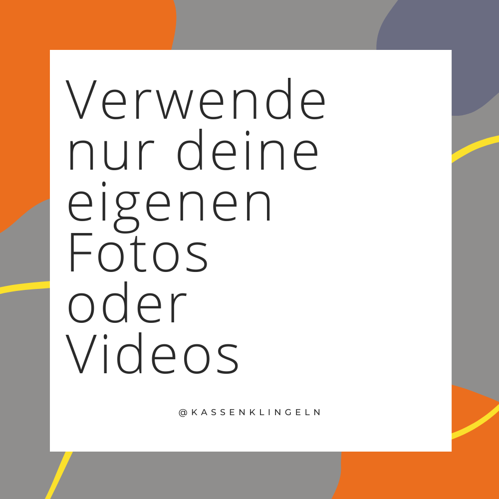 Verwende nur deine eigenen Fotos oder Videos für deinen Etsy Shop