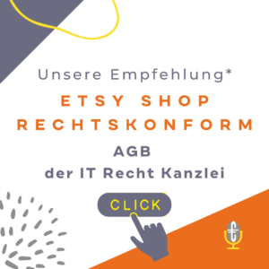 Etsy Shop rechtssicher ETSY AGB