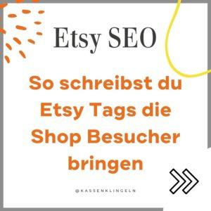 Etsy Tags für mehr Verkäufe auf Etsy
