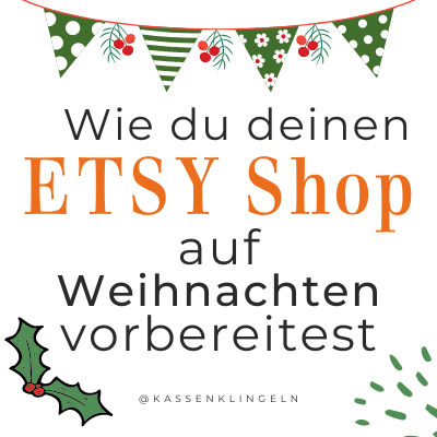 Etsy Shop mehr verkaufen an Weihnachten